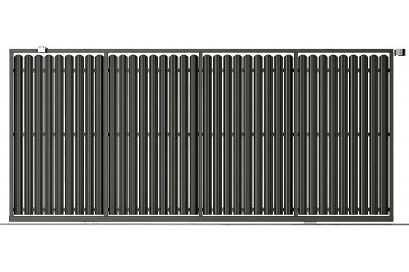 Poartă Glisantă ZnT Ștachet XL  1870 x 4000