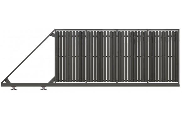 Poartă Autoportantă ZnT Sipcă XL  1850 x 4200
